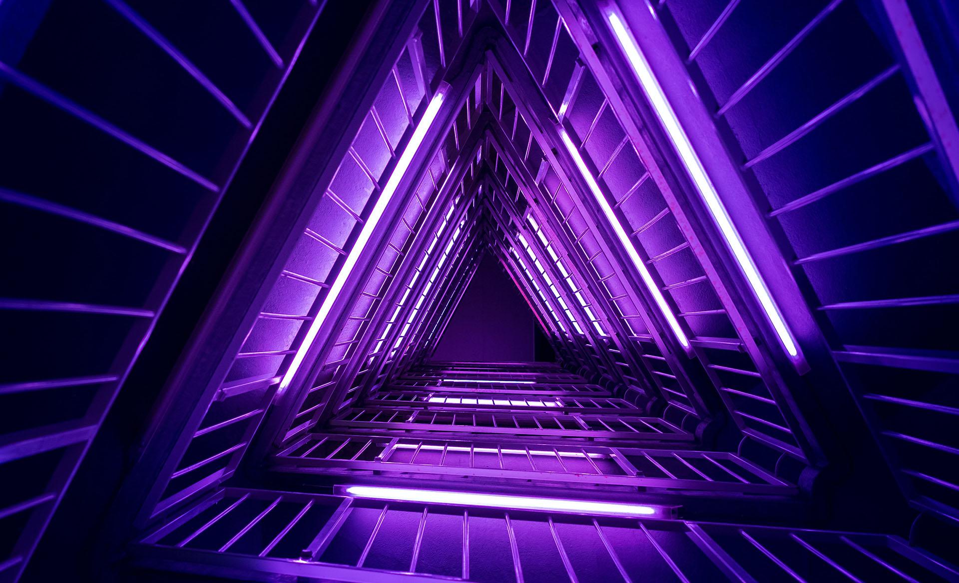 néons violets